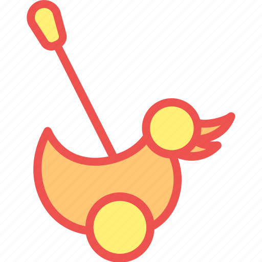 child, duck, game, kid, play, pushalong, toy icon