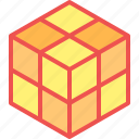 child, game, kid, play, rubik, toy icon