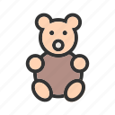 bear, brown, small, soft, stuffed, teddy, toy icon