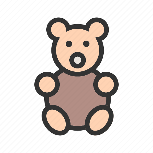 bear, brown, small, soft, stuffed, teddy, toy icon