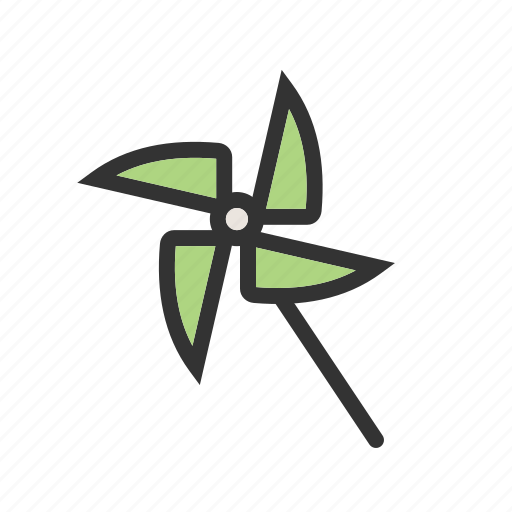 colors, fan, pinwheel, propeller, rotate, toy, wind icon