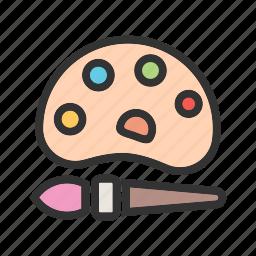 art, color, colorful, drawing, kids, paint, splash icon