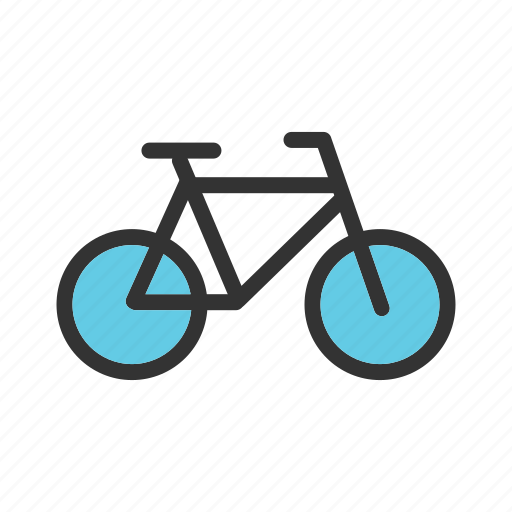 bicycle, bike, chain, frame, seat, tire, wheel icon