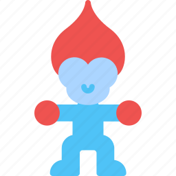 child, game, kid, play, toy, troll icon