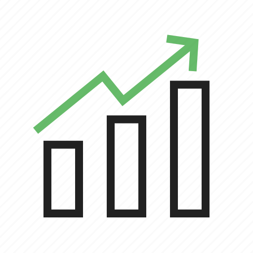 accounting, bar, chart, finance, graph, investment, rise icon