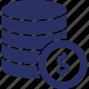 document, dollar, finance, money, note icon