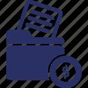 billfold, cards holder, folder, money, purse icon