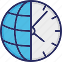 clock, globe, map, time, world icon