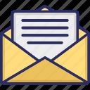 document, envelop, letter, mail, message icon