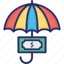 currency, currency note, note, protection, savings icon