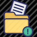 document, error, error in document, file, file folder icon