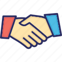 business, contacts, handshake, links, relations icon