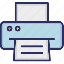 printer, fax, fax machine, printing, scanner icon