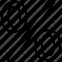 pct, percent sign, percentage, ratio icon