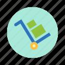 bank, box, cart, market, money, trade icon