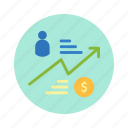 bank, customer, income, market, money, trade icon