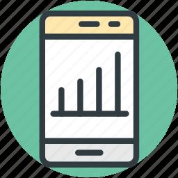 business, graph, mobile, online graph, online presentation icon