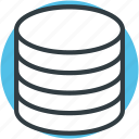 computing, data storage, databank, database, server icon