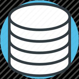 computing, data storage, databank, database, server icon