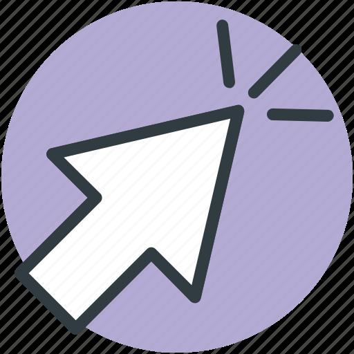 arrow, arrow click, arrow pointer, click, cursor icon