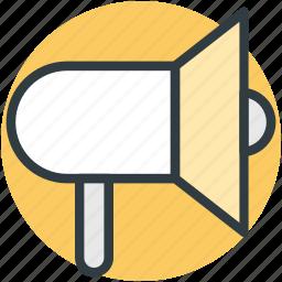alert, announcement, loud hailer, megaphone, speaking-trumpet icon
