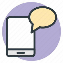 chat bubble, communication, mobile, mobility, technology icon
