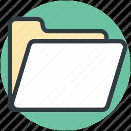 computer folder, computing, data storage, folder, open folder icon