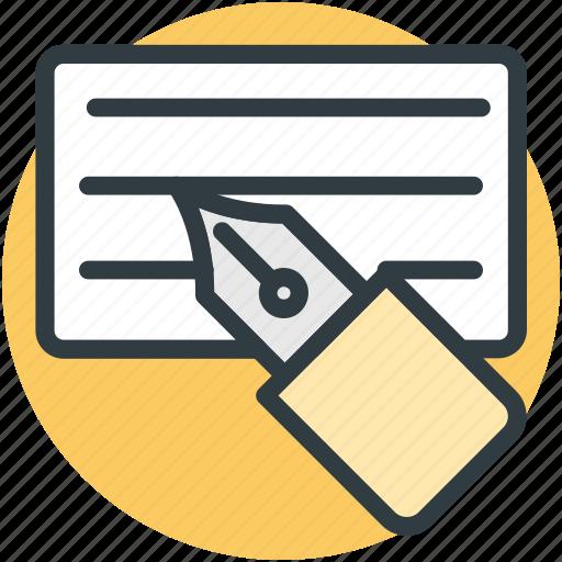 finance, invoice, payment receipt, pen, receipt icon