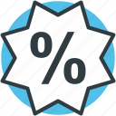 discount sticker, e-business, marketing, percentage sign, sale offer icon