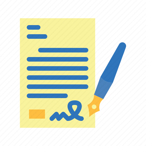 agreement, contract, pen, signature, terms icon