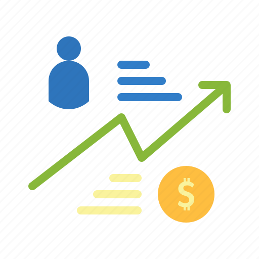 bank customer income market money trade icon