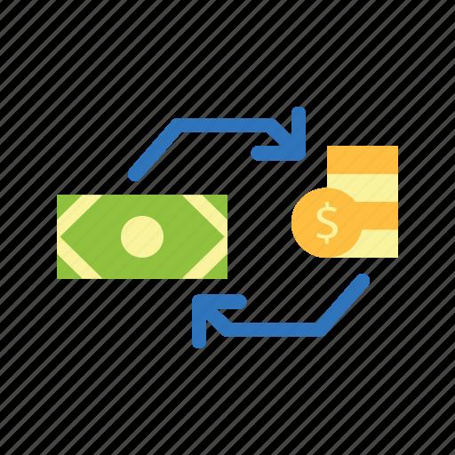 exchange, finance, money icon