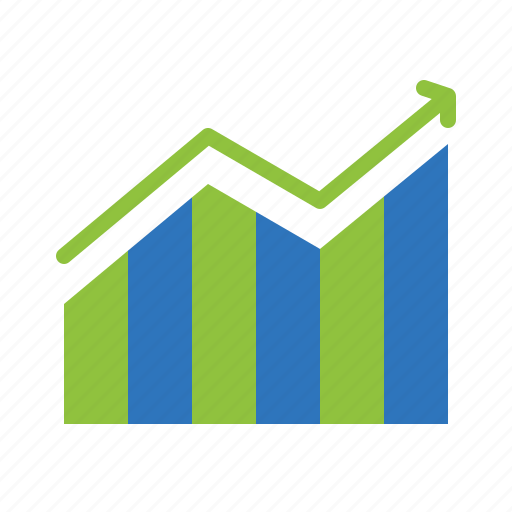 bar, chart, finance, growth, infographic icon