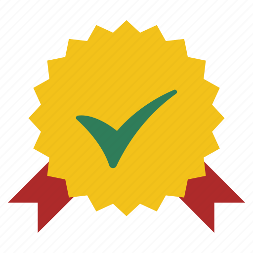 achievement, approve, award, best, guarantee, quality, sign icon