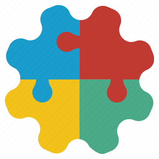 component, connect, gear, piece, plugin, puzzle, solution icon