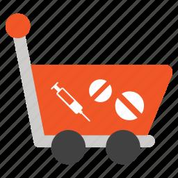 buy, drugs, healthcare, medical, medicine, pharmacy, shopping icon