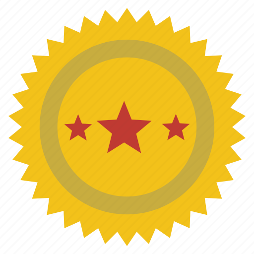 achievement, award, best, medal, quality, stamp, star icon