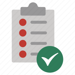 agreement, approve, check, contract, list, sign, validation icon