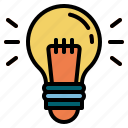 trading, idea, light, bulb, energy, lamp