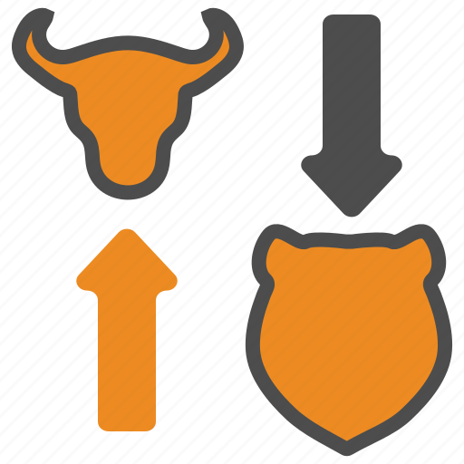 bear, bull, business, finance, trading icon