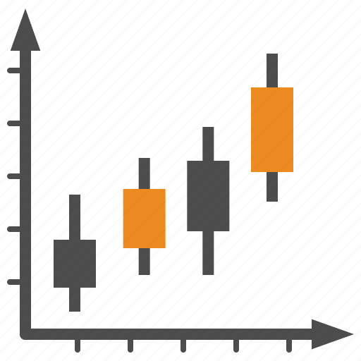 business, candle, candlestick, finance, trading icon