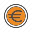 business, eur, euro, finance, trading icon