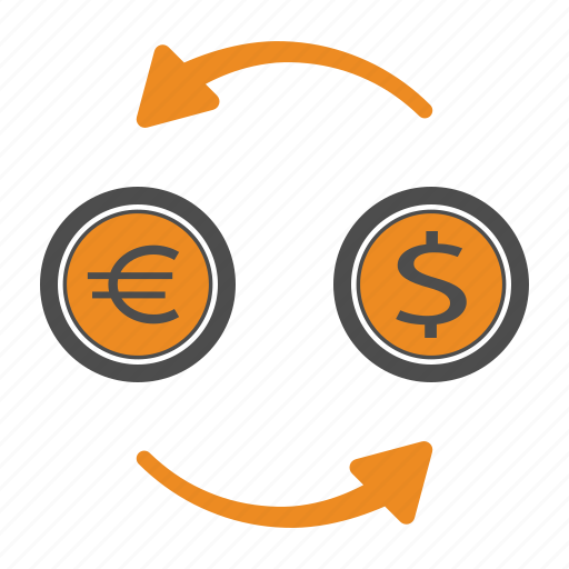 business, dollar, eur, euro, finance, trading, usd icon