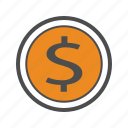 business, dollar, finance, trading, usd icon