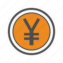 business, finance, jpy, trading, yen icon
