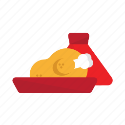 chicken, morocco, open, plat, tajine, traditionnal icon
