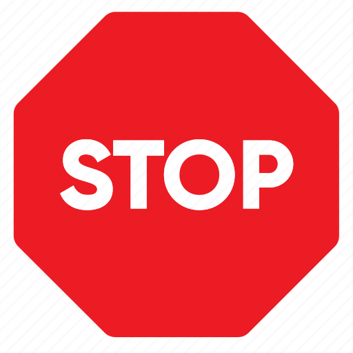 sign, signal, stop, traffic icon