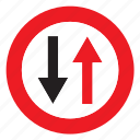 signal, two-way, two, sign, traffic, way icon