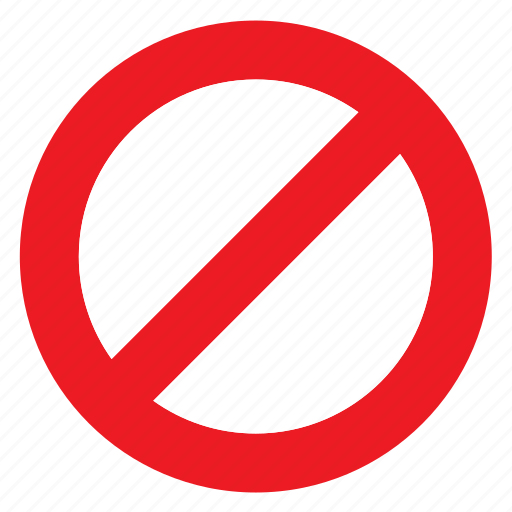 forbidden, not allowed, prohibited, restricted, sign, signal, traffic icon