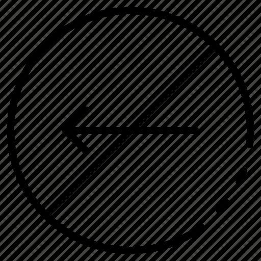 No, left, way icon - Download on Iconfinder on Iconfinder
